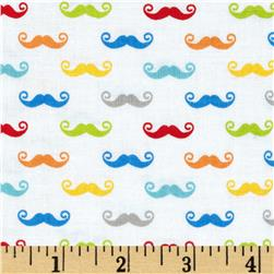 Riley Blake Geekly Chic Small Mustache Multi