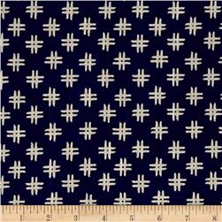 Windham Low Country Indigo Linen Crosshatch Navy