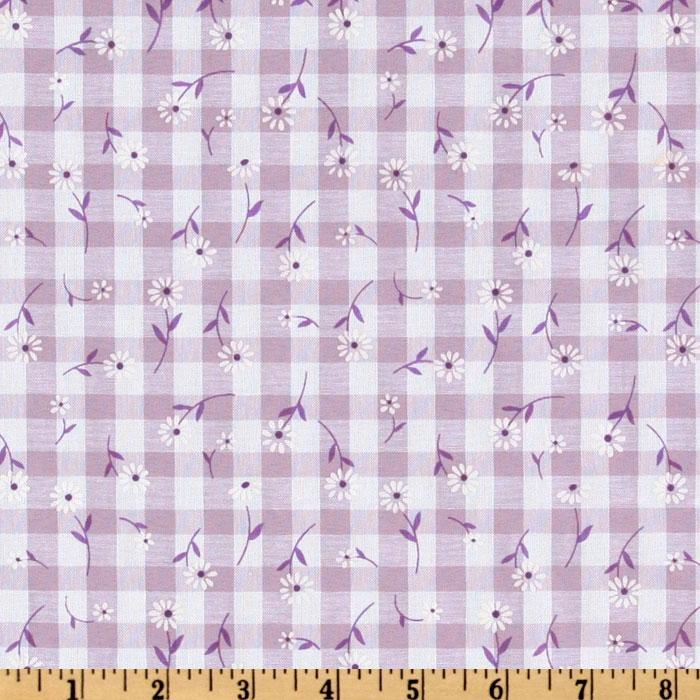 Woven 1/4'' Daisy Gingham Lilac