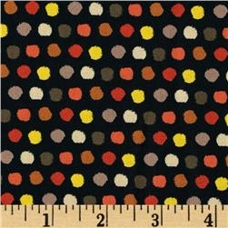 Saffron Dots Black