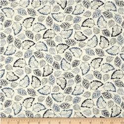French Navy Tossed Leaves Cream/Navy