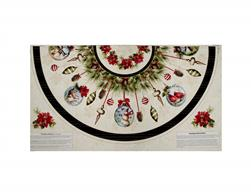 Woodland Holiday Tree Skirt Panel Multi