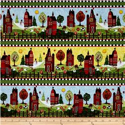 "Timeless Treasures Skinny Barns 12"" Stripe Multi"