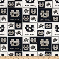 Collegiate Cotton Broadcloth Utah State University Allover