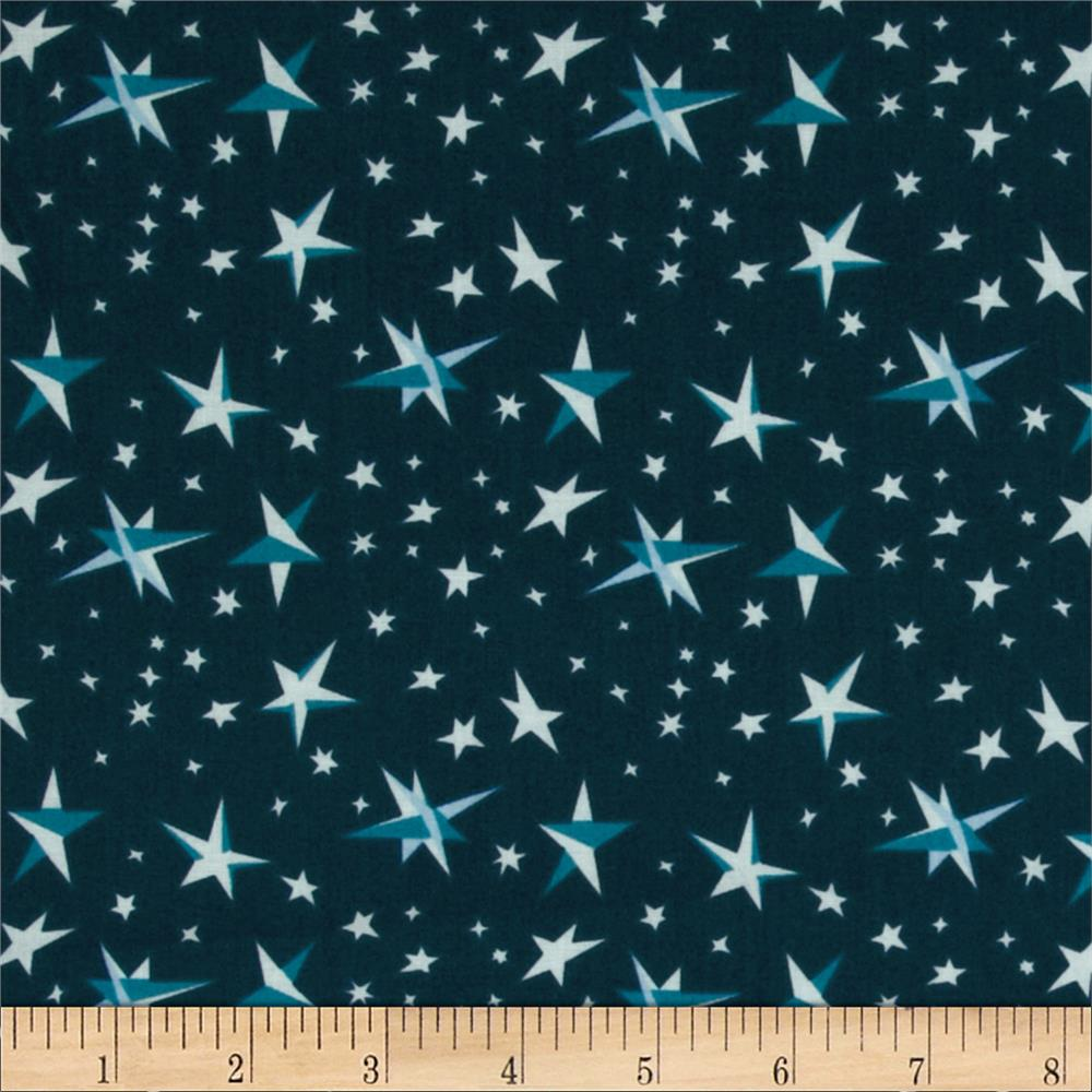 Goodnight Moon Organic Starry Night Blue