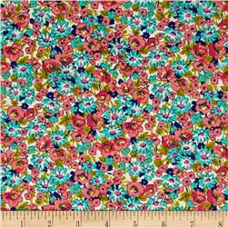 Kaufman London Calling Lawn Floral Bright