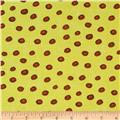 Cuddle Prints Jingle Dots Neon Yellow