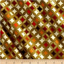 Kanvas Autumn Splendor Metallic Fig Leaf Geo Cream Multi
