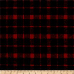 Telio Arlene Wool Plaid Red/Black
