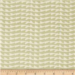 Wavy Stripe Light Olive Fabric