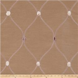Fabricut Rockaway Lattice Taffeta Taupe