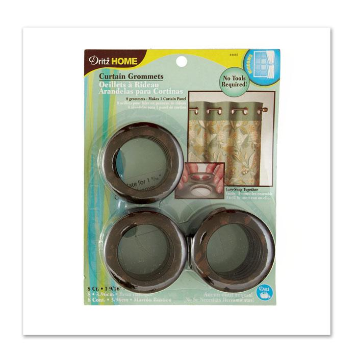 "Curtain Grommets 1 9/16"" Rustic Brown"
