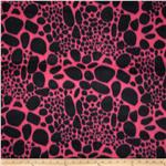 Fleece Animal Print Pink/Black