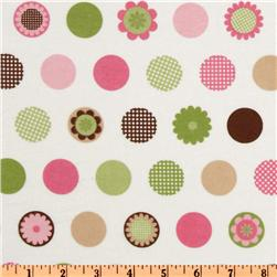 Cozy Cotton Flannel Motif Dots Garden