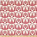 Scandi 4 Set Reindeer Red