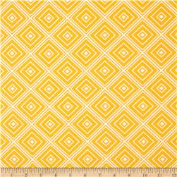Metro Living Box Stripe Marigold Fabric