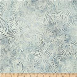 Batavian Batiks Feathers Light Gray