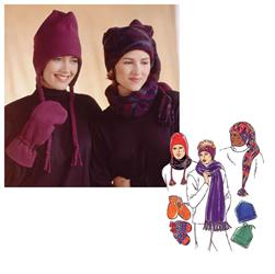 Kwik Sew Hats, Mittens, Headband, Neck Gaiter and Scarf Pattern