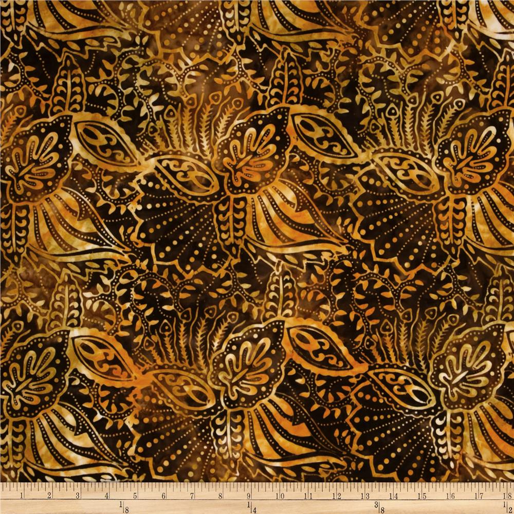 Batavian Batiks Perfectly Paisley Brown Gold