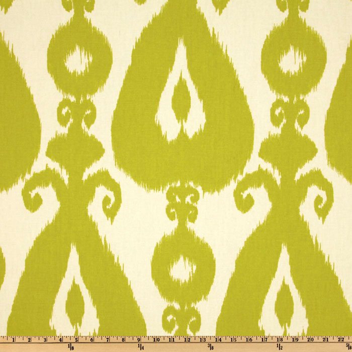 Richloom Iskander Ikat Lime Fabric