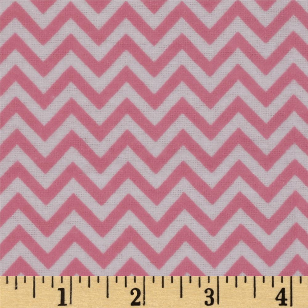 Dreamland Flannel Chic Chevron Pink Carnation