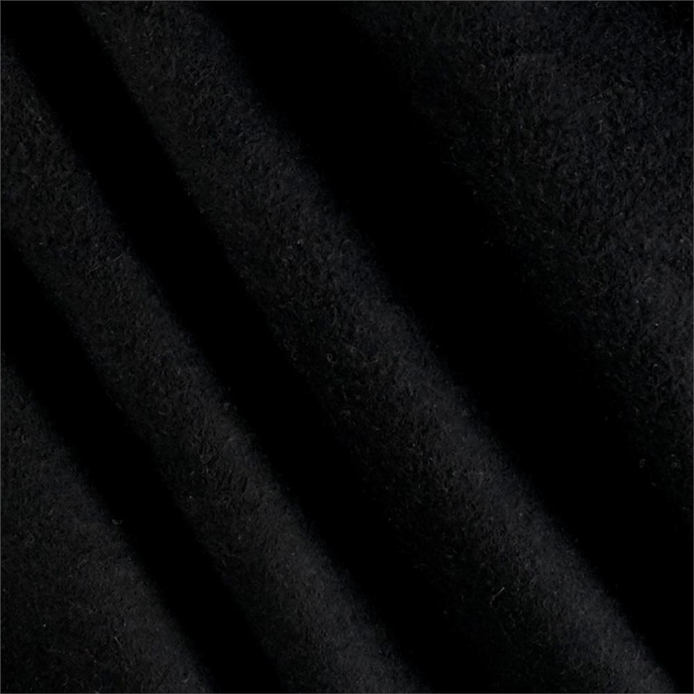 Solid Flannel Black Fabric