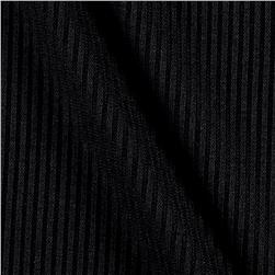 2x1 Rib Sweater Knit Black