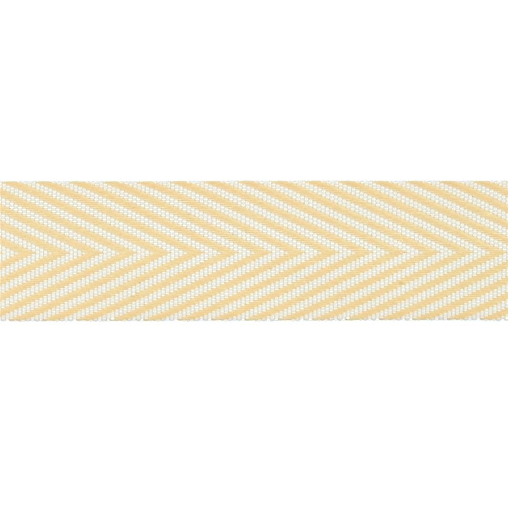 "3/4"" Twill Tape Chevron Stripes Champagne"