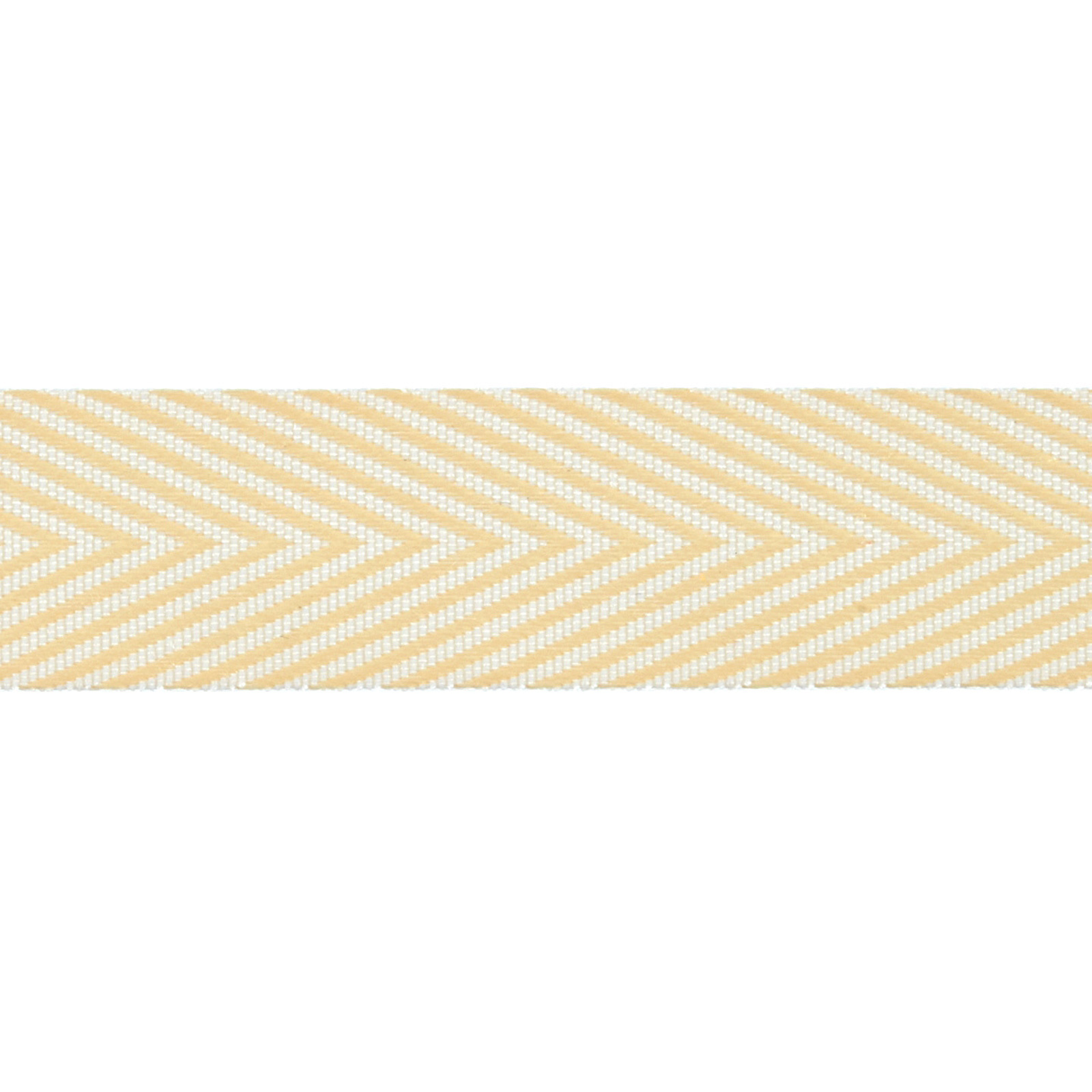 3/4'' Twill Tape Chevron Stripes Champagne