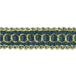 "1/2"" Novella Woven Braid Trim Roll Blue"