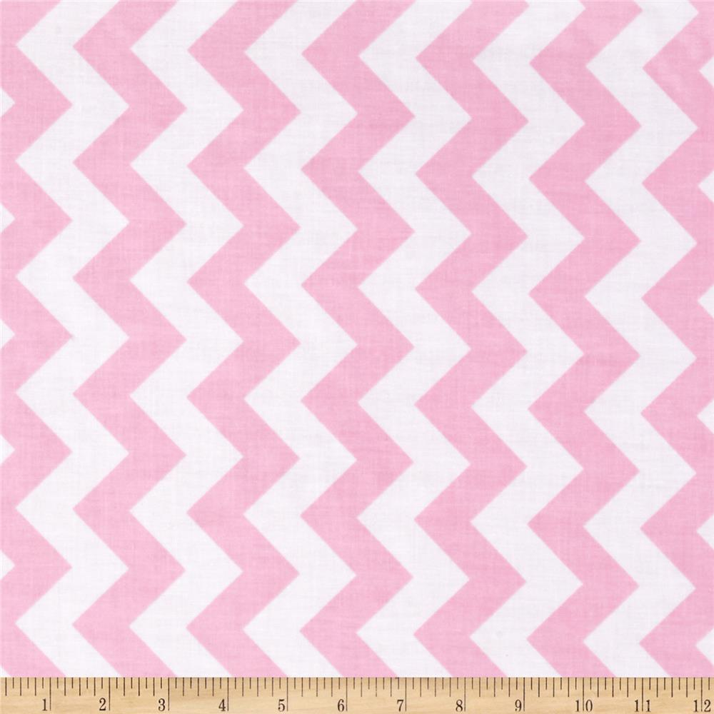 Riley Blake Laminate Medium Chevron Baby Pink