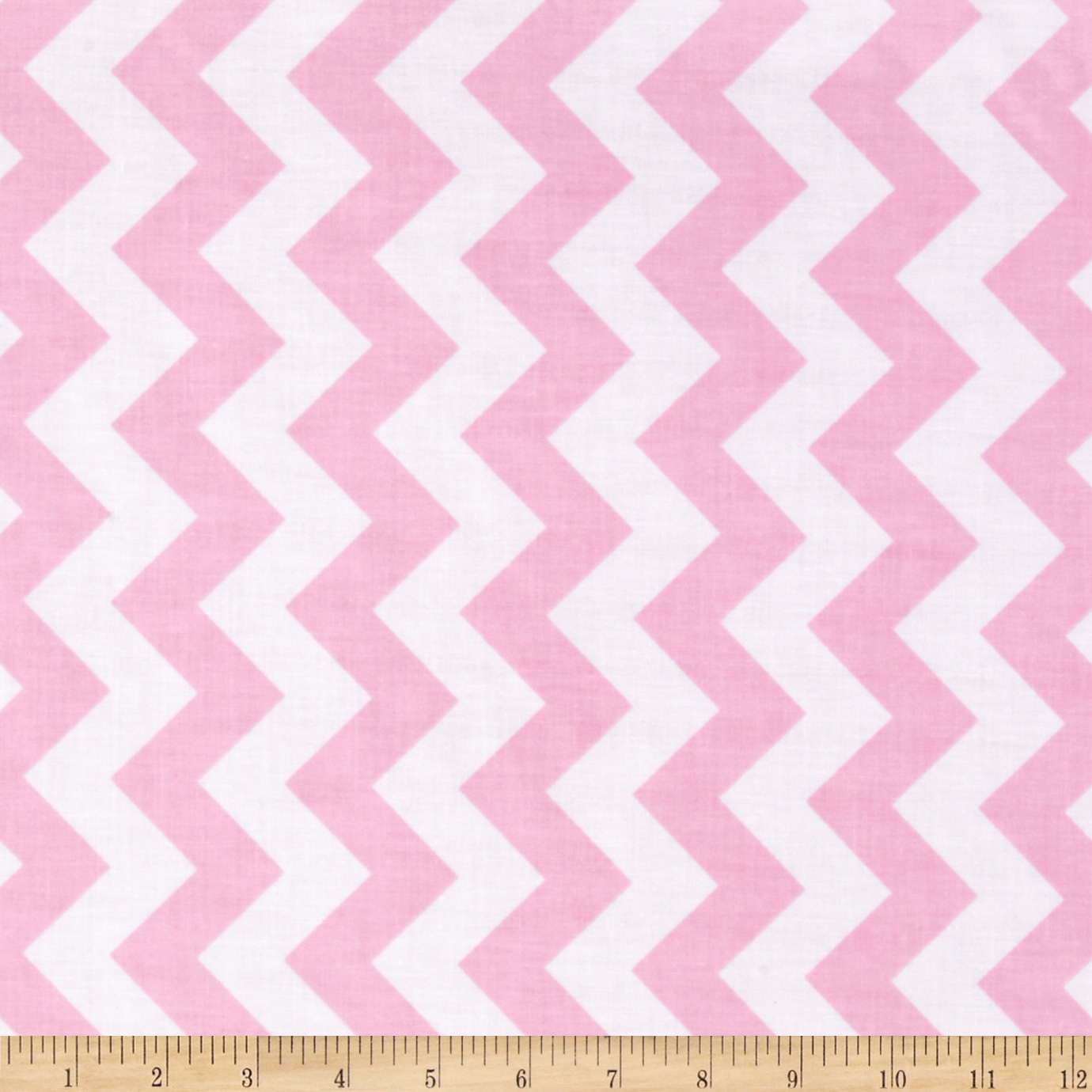 Riley Blake Laminate Medium Chevron Baby Pink Fabric