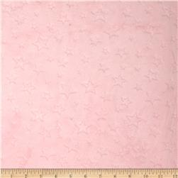 Minky Embossed Star Cuddle Blush