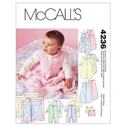 McCall's Infants' Buntings, Jumpsuits, Hats and Blanket Pattern M4236 Size OSZ