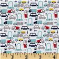 Riley Blake Holiday Banners 2 Boys Cars White