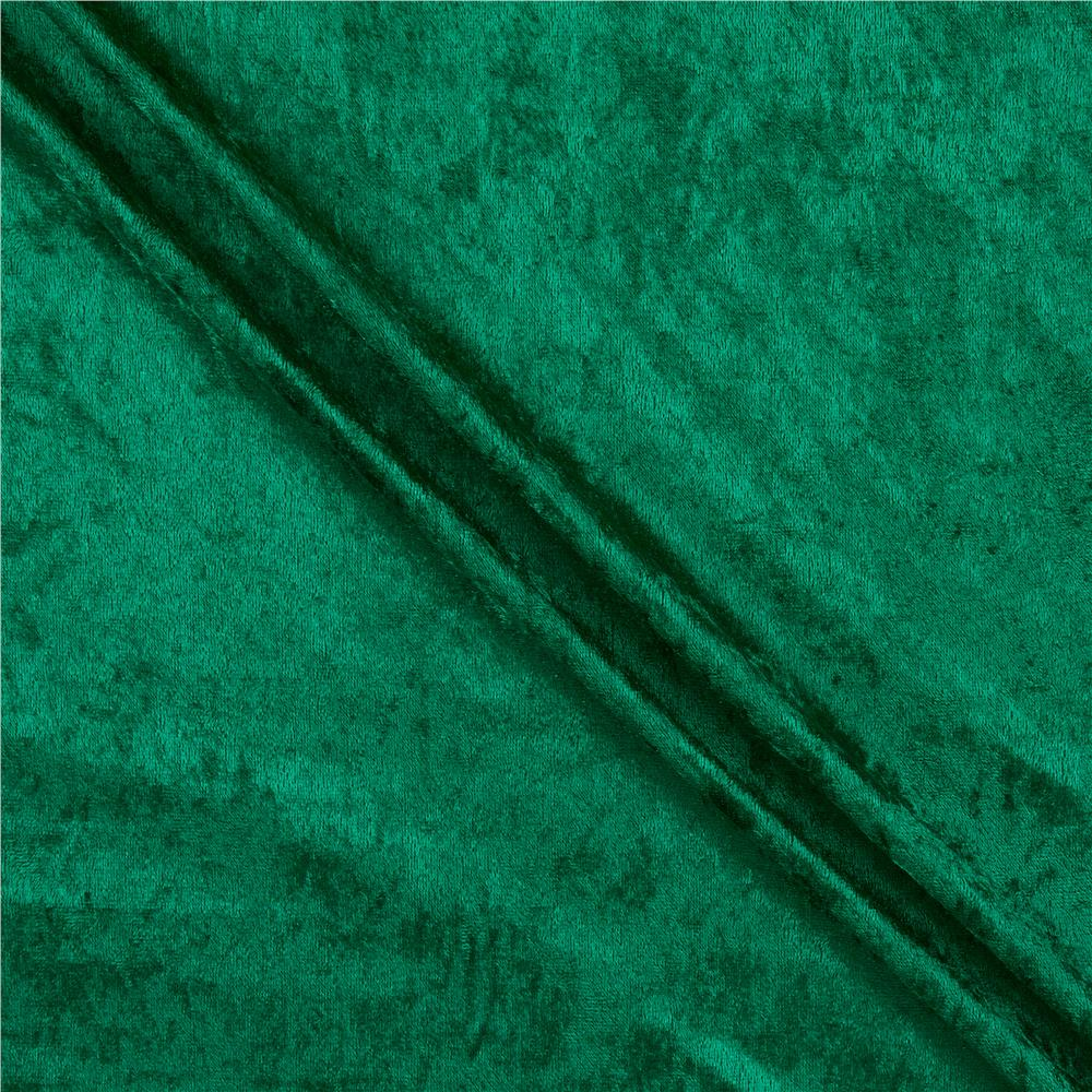 Green Velvet Fabric Texture Stretch Panne Velvet V...