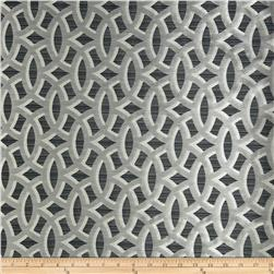 HGTV HOME Backlit Satin Jacquard Zinc