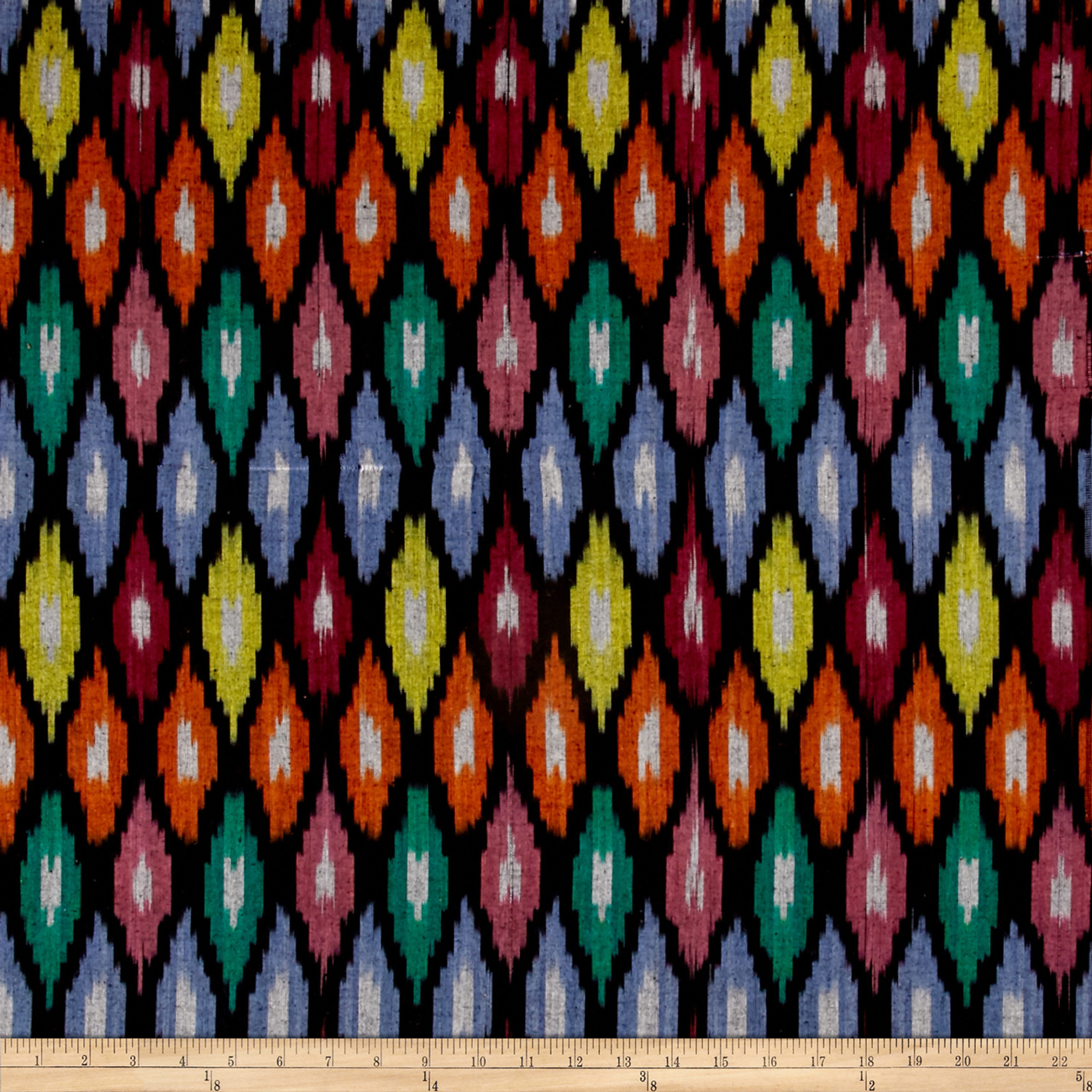 Aztec Diamond Print Shirting Multi Fabric by Textile Creations in USA