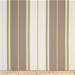Bella Dura Eco-Friendly Indoor/Outdoor Summer Tide Stripe Stone/Light Gold