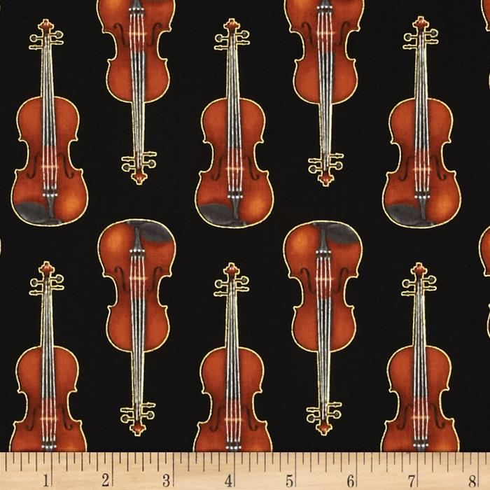 Kaufman In Tune Metallic Violins Black
