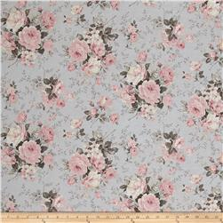 Kaufman Margeaux Large Flower Grey