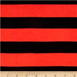 Jersey Knit Large Stripe Orange/Black