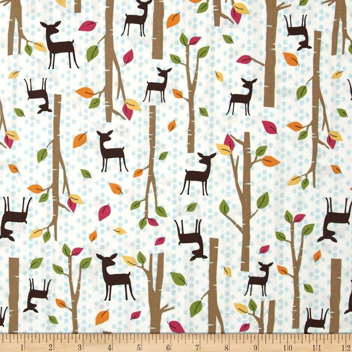 Timeless Treasures Deer Woods Cream