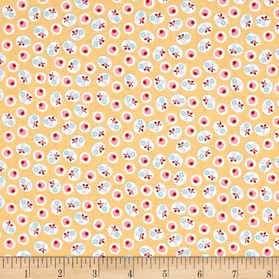 Riley Blake Calico Days Strawberry Yellow