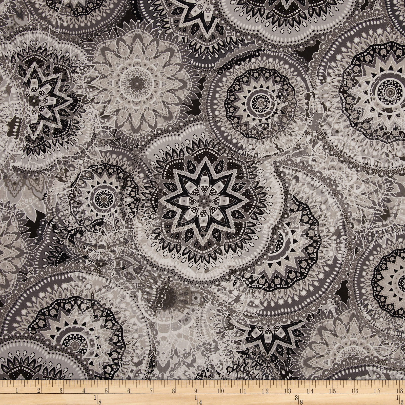 Kanvas Palazzo Mosaic Medallion Taupe/Grey Fabric