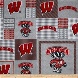Collegiate Fleece University of Wisconsin Grey