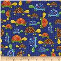 Fun With Nature Turtles Navy Blue