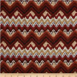 Juliette Jersey Knit Chevron Brown/Rust