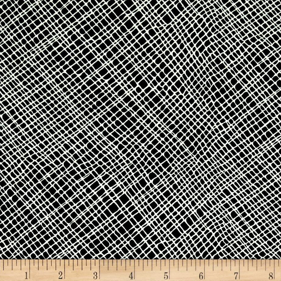 Moda Thicket Crosshatch Black/Natural