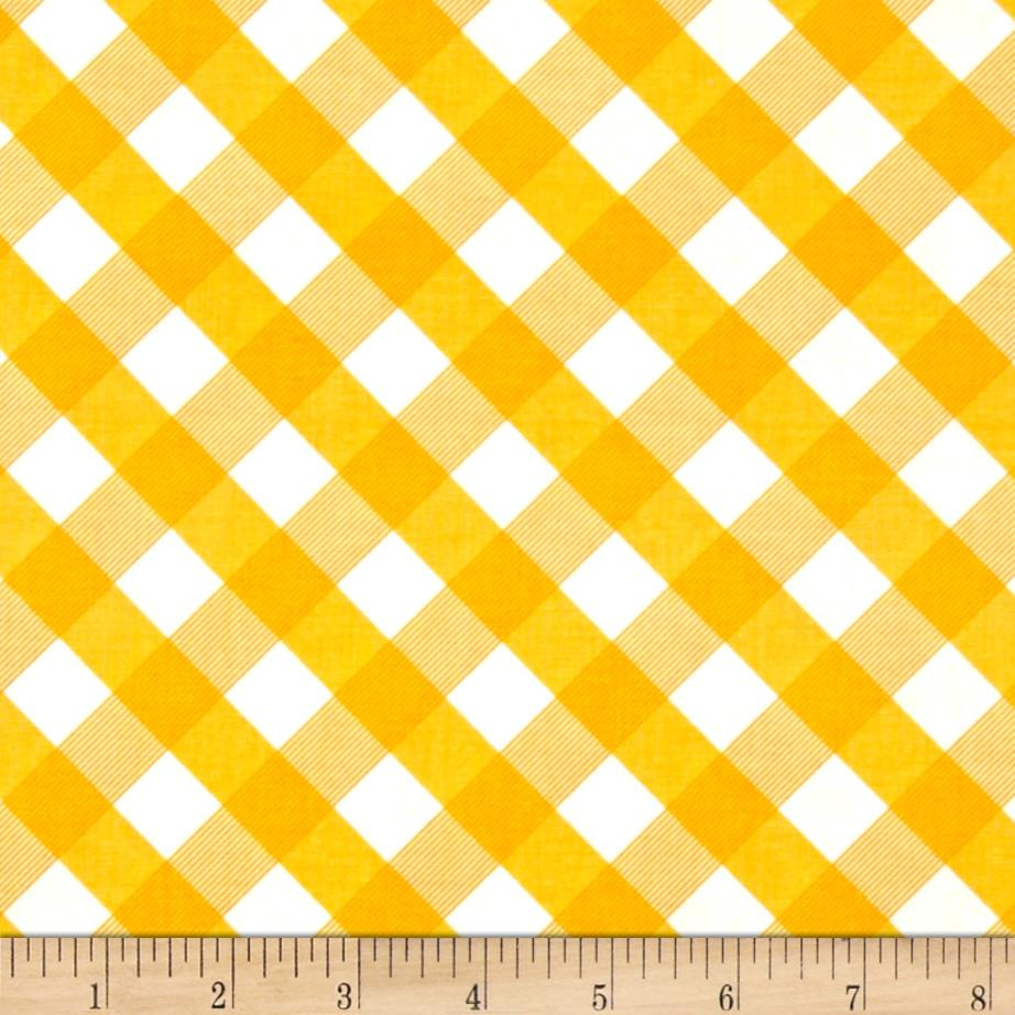 Sundborn Garden Criss Cross Plaid Gold